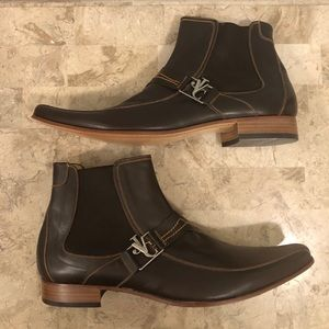 Versace genuine leather boots